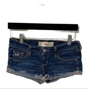 Hollister dark wash jean shorts size 0 dark wash